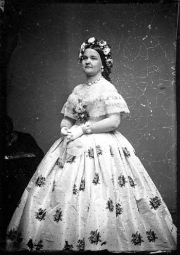 Image of Mary Todd Lincoln in dress made by Elizabeth ...