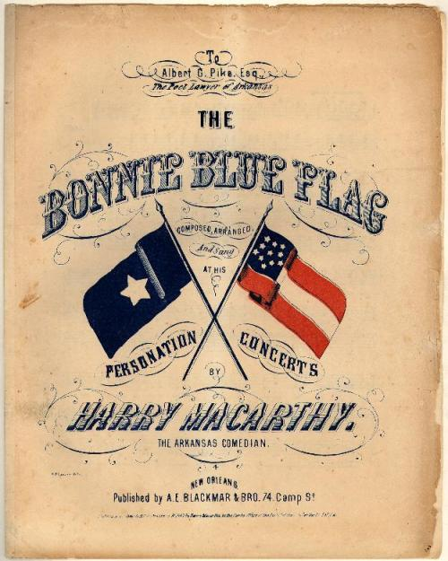 Cover of sheet music for the Bonnie Blue Flag, collections of Duke University, Historic American Sheet Music Collection.
