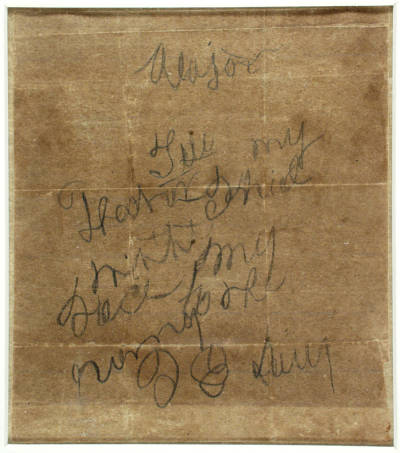 Bleeding to death and his right had paralyzed, Isaac Avery penned this note for his father with his left hand.