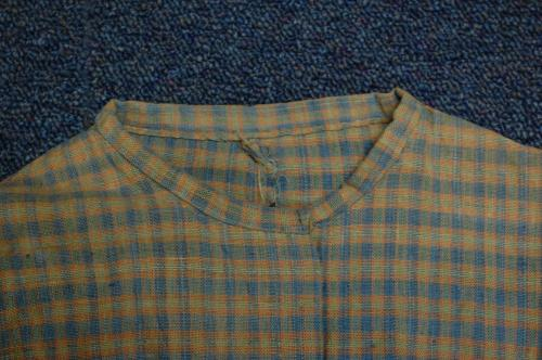 Plaid dress, collar detail. Piedmont NC. Collections of North Carolina State Historic Sites.  Accession number 2013.4.1