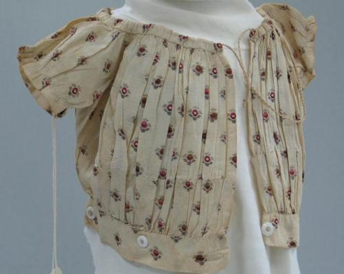 Child's bodice, made for James Madison Lee (1862-1866).  North Carolina Museum of History.