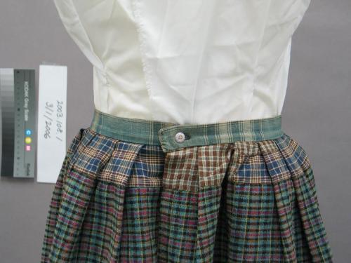 Skirt Detail. Homespun dress, 1886.  North Carolina Museum of History Accession #2003.108.1