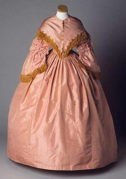 Mary Eliza Battle Pittman's Pink Ball Gown. Collections of the North Carolina Museum of History, accession number 1964.60.55.
