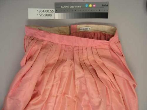 Skirt detail. Collections of the North Carolina Museum of History, accession number 1964.60.55.