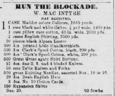 Fayetteville Observer, January 7, 1864