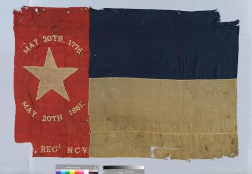 North Carolina State Flag, 35th Regiment NC Troops, North Carolina Museum of History, Accession Number 19xx.146.35