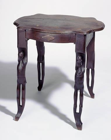 Slave made table with carved legs from  Franklin County, NC.  Collections of the NC Museum of History, Accession Number 1998.145.1.