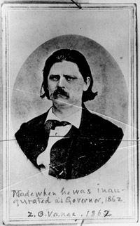 Governor Vance, 1862.  North Carolina State Archives
