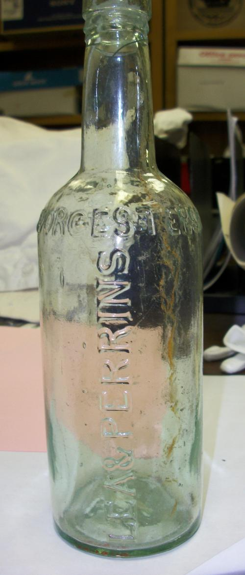 Bottle from wreck of the CSS Neuse.  Collections of North Carolina State Historic Sites.