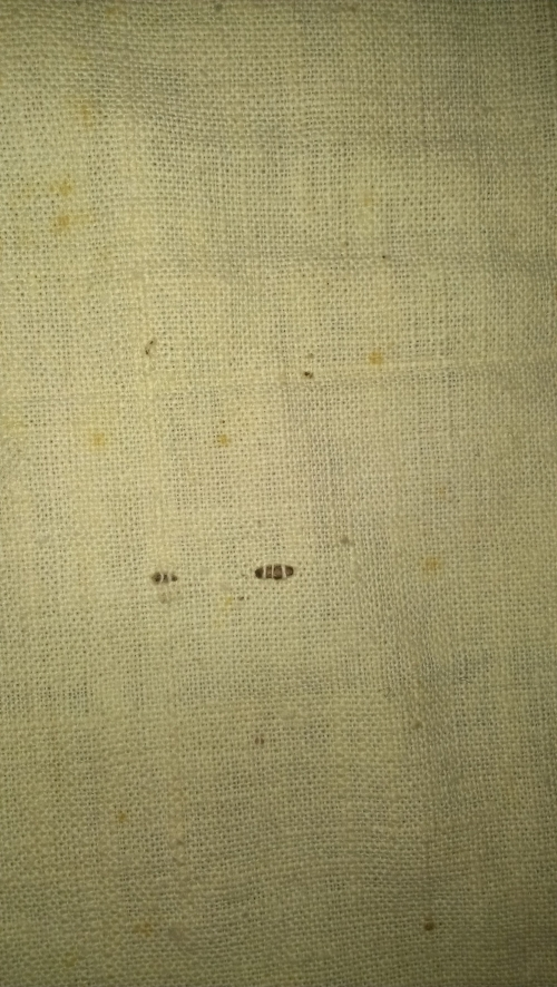 Bolt of Rockfish fabric, weaving detail. NC Museum of History Collections Accession number 1914.111.1.