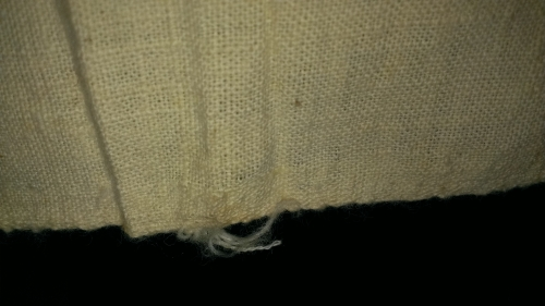 Bolt of Rockfish fabric, selvage . NC Museum of History Collections Accession number 1914.111.1.
