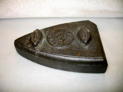 Flat iron from the wreck of the blockade runner Modern Greece.  NC Museum of History Collections, Accession number 1972.97.85