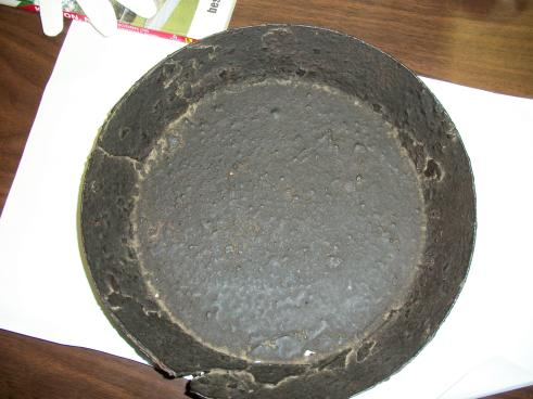 Iron Frying Pan. From the wreck of the CSS Neuse. Collections of North Carolina State Historic Sites.