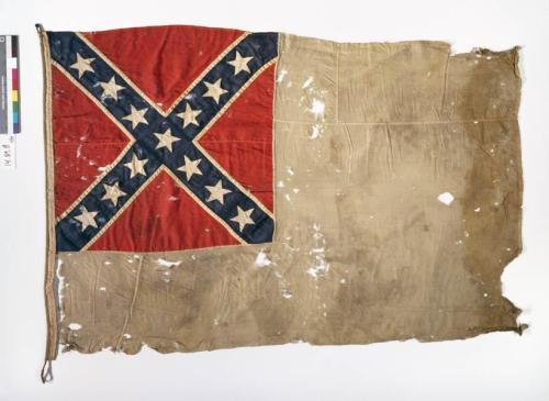 Second National Confederate Flag, Headquarters flag of Major General Robert F. Hoke. NC Museum of History Collections