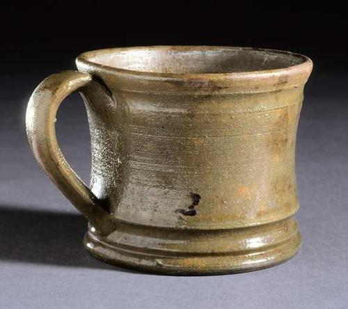 Earthenware, salt glazed cup from the Confederate Hospital in Raleigh, North Carolina Museum of History Collections, detail of base. Accession number 1914.112.1