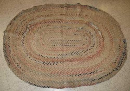 Braided rug. No date.  NC State Historic Sites, accession number 1962.14.3.