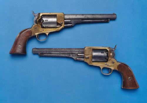 Confederate revolvers, made in Georgia, North Carolina Museum of History, accession numbers 1963.22.14-15