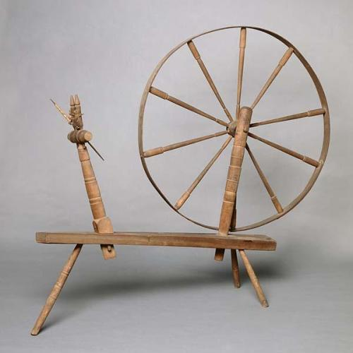 Hearne family spinning wheel, Pitt County, NC. NC Museum of History Collections.