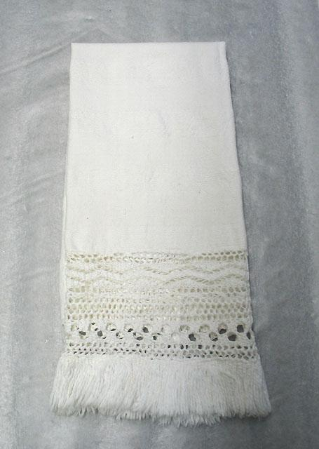 Hand towel made by Adeline Loftin of Denton, NC in 1863. NC Museum of History.