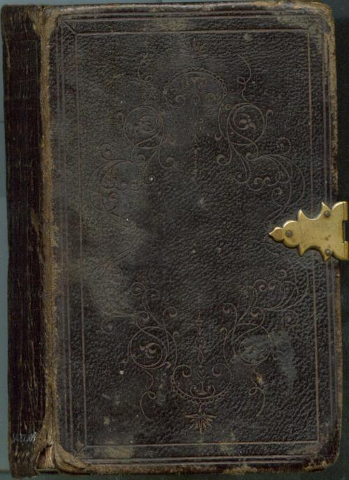 Cover, Bible of Capt. John P. Young, 7th Regiment, killed at Chancellorsville. North Carolina Museum of History, 1960.32.109